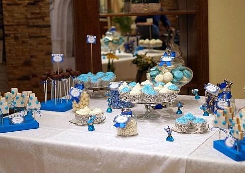 свадебный в голубом