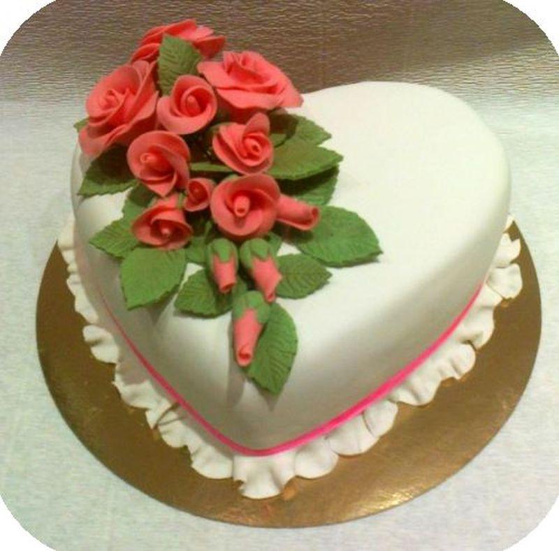 С розами из мастики мк лучшие торты